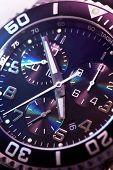 watch chronograph closeup