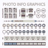 Photo infographics set, part two