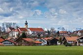 image of bavaria  - German countryside and village - JPG