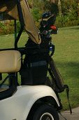 Golf Bag On Cart