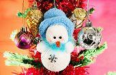 Christmas Balls And Snowman.