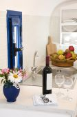 Kitchenette Kitchen In Greek Island Villa Apartment