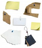 yellow blank sticky notes and blank paper tags