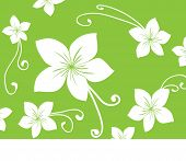 Seamless green Hawaii pattern