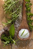 image of purple sage  - sea salt with herbs - JPG