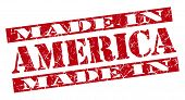 Made In America Grunge Red Stamp
