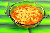 foto of tripe  - Traditional tripe soup in a small bowl - JPG