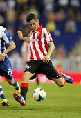 BARCELONA - SEP, 23: Ander Herrera of Athletic Bilbao in action during a Spanish League match between RCD Espanyol vs Bilbao at the Estadi Cornella on September 23, 2013 in Barcelona, Spain