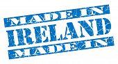 Made In Ireland Grunge Blue Stamp