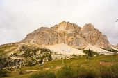 picture of piccolo  - View of Piccolo Lagazuoi from Passo Falzarego - JPG