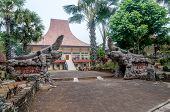 stock photo of minangkabau  - Themappark with different traditional buildings  - JPG
