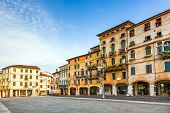 Old Market Place Of Romantic City Basano Del Grappa In Early Morning Light