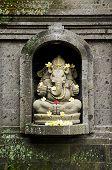 foto of ganesh  - ganesh hindu god stone statue in bali indonesia - JPG