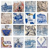Descriptive Portuguese Tiles Collage