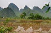 Mountain Landscape Near Guiling, Guanxi Province, China