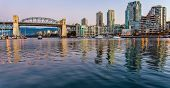 foto of inlet  - Burrary inlet and bridge from Granville Island - JPG