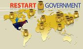 Graphic Represent Government Restart Event