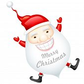 illustration of happy Santa Claus wishing Merry Christmas