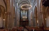 Interior of Cathedral Saint Pierre in Geneva Switzerland