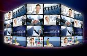 futuristisch tv video-News-Bildschirme Wand
