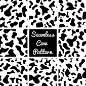 Vector set cow pattern on white background