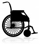 Wheelchair Black Silhouette Vector Illustration