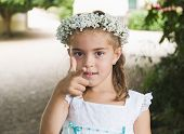 Little Girl Dressed For A Wedding
