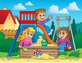 Image with playground theme 2 - eps10 vector illustration.