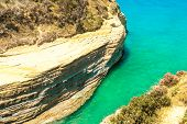 Canal D'amour Yellow Beach Rocks In Sidari, Corfu