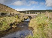stone built moorland packhorse bridge