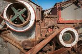 Side Of Steam Powered Thresher