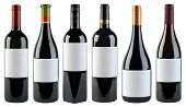 Unlabeled Wine Bottles Isolated With Clipping Path