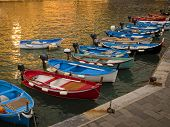 small wooden fishing boats