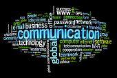communication concept image word cloud