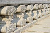 Octagonal Banister Pillars Of Yeongje Bridge In Gyeongbok Palace In Seoul