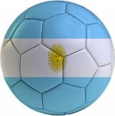 Football Ball With Argentinean Flag