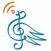 Treble clef bird