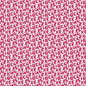 3D Pink Font Shape Pattern On White Backdrop