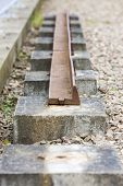 out of action track on Laigh Milton Viaduct, East Ayrshire, Scotland