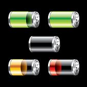 Battery Set Vector Illustration