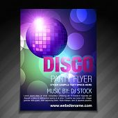 vector disco party flyer brochure and poster template design
