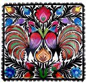 multicolor paper cut-out as folk art decoration