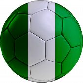 Soccer Ball With Nigerian Flag