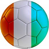 Soccer Ball With Ivory Coast Flag
