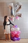 Portrait Of A Bat Mitzvah Girl With Baloons