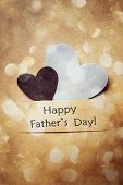 image of paper craft  - Happy Fathers Day Card with hand - JPG
