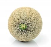 foto of ares  - Fresh melon fruit isolated  on white background - JPG