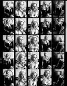 Contact Or Proof Sheet From Retro Photo Shoot