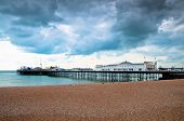 Amusement pier and boardwalk of Brighton in England