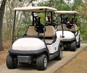 Golf Cart Or Club Car At Golf Course